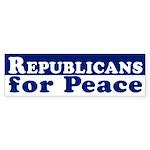 Republicans for Peace bumper sticker