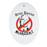 Retire Senator McAncient Oval Ornament