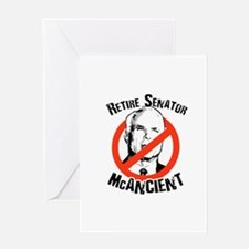 Retire Senator McAncient Greeting Card