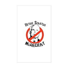 Retire Senator McAncient Rectangle Decal