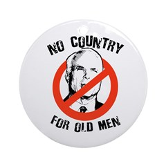 Anti-Mccain / No Country for Old Men Ornament (Rou