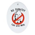 Anti-Mccain / No Country for Old Men Ornament (Ova