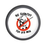 Anti-Mccain / No Country for Old Men Wall Clock