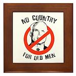 Anti-Mccain / No Country for Old Men Framed Tile