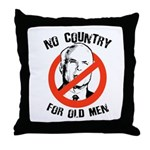 Anti-Mccain / No Country for Old Men Throw Pillow