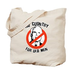 Anti-Mccain / No Country for Old Men Tote Bag