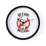 Anti-Mccain / Detain McCain Wall Clock
