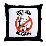 Anti-Mccain / Detain McCain Throw Pillow