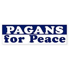 Pagans for Peace (bumper sticker)