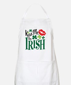 Kiss Me I'm Irish BBQ Apron