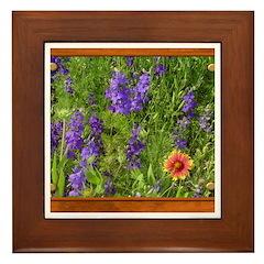 Wildflowers #1 Framed Tile