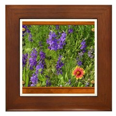 Wildflowers #1 Framed Tile