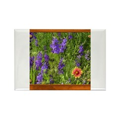 Wildflowers #1 Rectangle Magnet