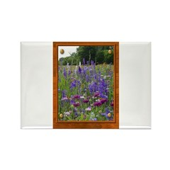 Wildflowers #2 Rectangle Magnet