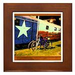 Texas Train Framed Tile