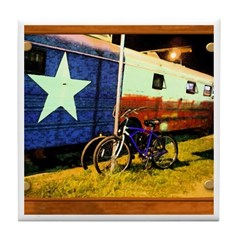 Texas Train Tile Coaster