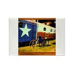 Texas Train Rectangle Magnet