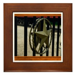 Texas Star #3 Framed Tile