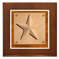 Texas Star #2 Framed Tile