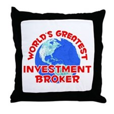 World's Greatest Inves.. (F) Throw Pillow