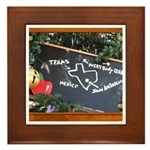 Texas, Mexico, Everybody Else Framed Tile