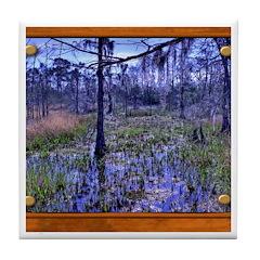 Sabine River Tile Coaster