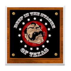 Texas Mustache Tile Coaster