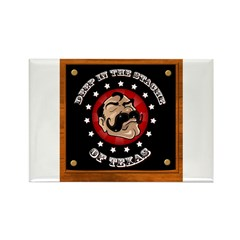 Texas Mustache Rectangle Magnet