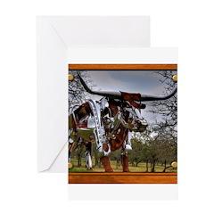 Longhorn Robo Greeting Card