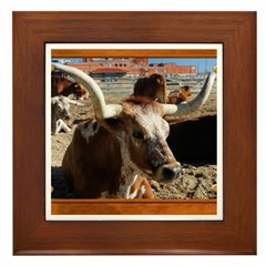 Longhorn #5 Framed Tile