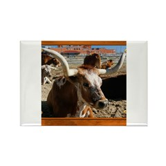 Longhorn #5 Rectangle Magnet