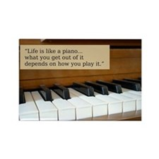 Life is Like a Piano Rectangle Magnet