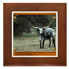 Longhorn #2 Framed Tile