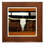 Longhorn #1 Framed Tile