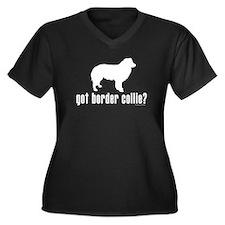 got border collie? Women's Plus Size V-Neck Dark T