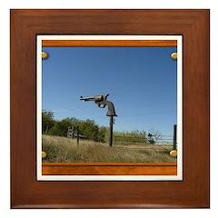 Keep Away! Sign Framed Tile