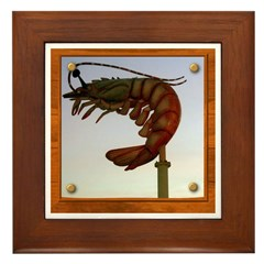 Jumbo Shrimp! Framed Tile