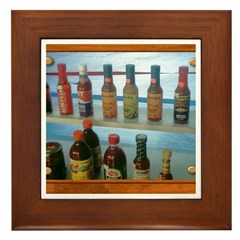 Hot Sauce Framed Tile