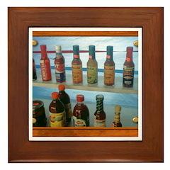 Hot Sauce Framed Tile