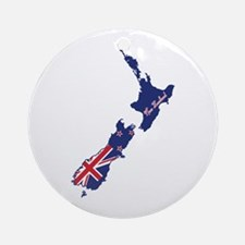 Cool New Zealand Ornament (Round)
