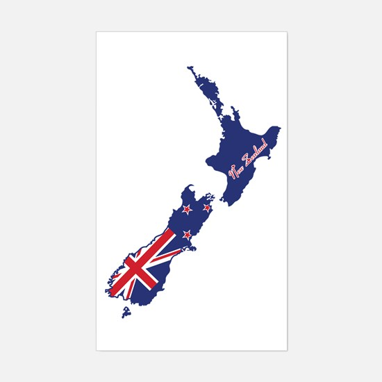 Cool New Zealand Rectangle Decal
