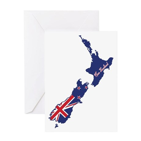 Cool New Zealand Greeting Card