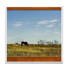 Horse #1 Tile Coaster