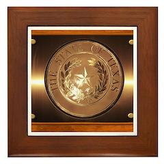 Great Seal of Texas Framed Tile