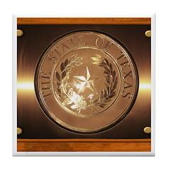 Great Seal of Texas Tile Coaster