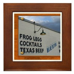 Texas Dining Framed Tile
