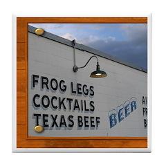 Texas Dining Tile Coaster