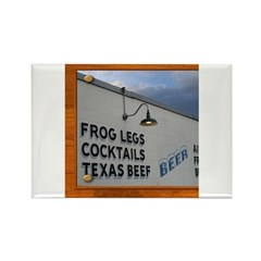 Texas Dining Rectangle Magnet