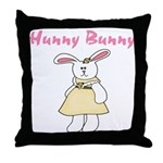 Hunny Bunny Throw Pillow