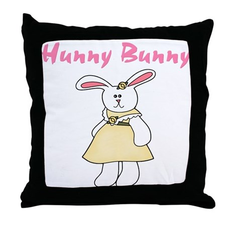 Hunny Bunny Throw Pillow